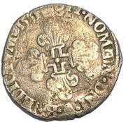 HENRI II Gros de trois blancs ou demi-gros de Nesle 1551 , Moulin de Nesle – reverse