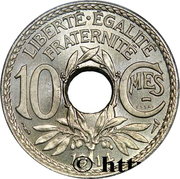 10 Centimes - Essai piéfort en nickel -  obverse