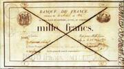 1000 Francs - type 1814 provisoire – obverse
