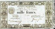 1000 Francs - type 1817 définitif – obverse