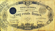 500 Francs - type 1829 à légende blanche – obverse