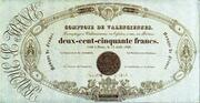 250 Francs - type 1836 comptoirs – obverse