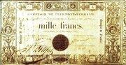 1000 francs (type 1837 comptoirs) – obverse