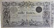 1000 Francs - type 1842 transposé – obverse