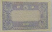 100 Francs - type 1862 indices bleus – reverse
