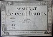 100 Francs (assignat de ...) – obverse