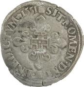 Gros de trois blancs dit demi-gros de Nesle Henri II -  obverse