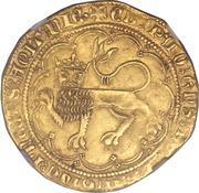 Leopard d'Or - Edward The Black Prince – obverse