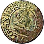 Denier Tournois - Louis XIII (Bordeaux mint; 2nd type) – obverse