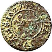Denier Tournois - Louis XIII (Bordeaux mint; 2nd type) – reverse