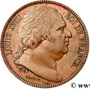 40 Francs (Essai uniface d'avers en cuivre de Droz au module de ...) -  obverse