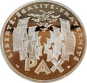 100 Francs - 50th Anniversary of the end of World War II (Silver Proof Issue) -  obverse