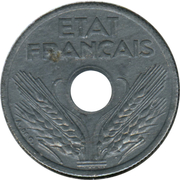10 Centimes (Vichy French State; small issue) -  obverse