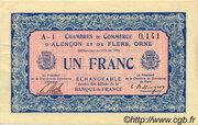 1 franc - Chambres de commerce d'Alençon et de Flers [61] – obverse