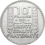 10 Francs -  reverse