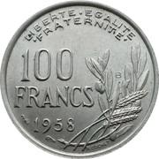 100 Francs -  reverse