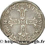 ¼ d'écu - Henri IV - 7e type -  obverse
