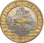 20 francs Mont Saint Michel (tranche lisse) -  obverse