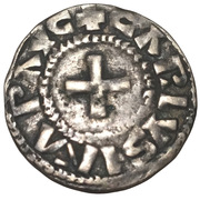 Denier de Charles II, Nevers – obverse