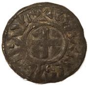 Denier de Charles III le simple – obverse