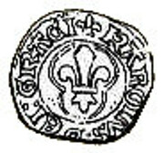 Denier Coronat - Charles VIII – obverse
