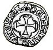 Denier Coronat - Charles VIII – reverse