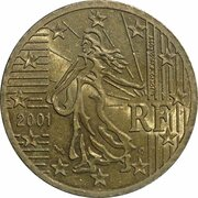 50 Euro Cent (1st map) -  obverse