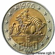 5 Euro / ECU (François Mitterand) -  reverse