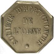 Token - Société d'horticulture de l'Orne (Type 1) – reverse