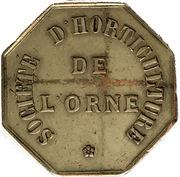 Token - Société d'horticulture de l'Orne (Type 2) – reverse