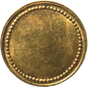 Coffee Machine Token (Blank with 63 beads; 21.15 mm) – reverse