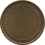 Coffee Machine Token (Blank with 42 beads; 23 mm) – reverse