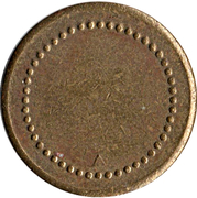 Coffee Machine Token (Blank with 48  beads and triangular mintmark; 21 mm) – obverse