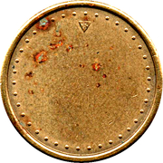 Coffee Machine Token (Blank with 38 beads and triangular mintmark; 21 mm) – obverse