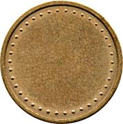 Coffee Machine Token (Blank with 38 beads and triangular mintmark; 21 mm) – reverse
