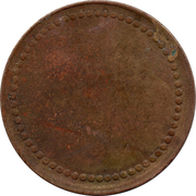 Coffee Machine Token (Blank with 63/62 beads; d 21.3 mm) – obverse