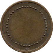 Coffee Machine Token (Blank with 45/49 beads; 21 mm) – obverse
