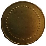Coffee Machine Token (Blank with 40 beads; 21 mm) – obverse