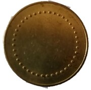 Coffee Machine Token (Blank with 40 beads; 21 mm) – reverse