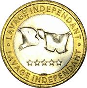 Car Wash Token - B'W Lavage Independant – reverse