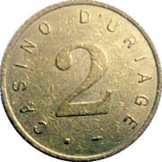 2 Francs - Casino d'Uriage – reverse