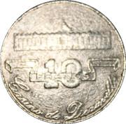 10 Francs - Casino de Deauville – reverse