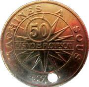 50 Francs - Casino Plouescat – reverse