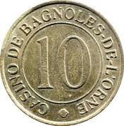 10 Frans - Casino Emeraude (Bagnoles-de-l'Orne) – obverse