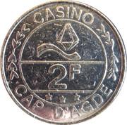 2 Francs - Casino Cap d'Agde – obverse