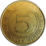 5 Francs - Casino Emeraude (Bagnoles-de-l'Orne) – obverse