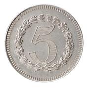 5 Francs (Casino Token) – obverse