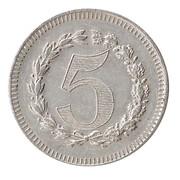 5 Francs (Casino Token) – reverse
