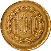 100 Francs - Casino Token – reverse