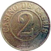 2 Francs - Casino de Cassis – reverse